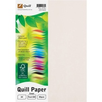QUILL COLOUR COPY PAPER A4 80GSM Cream 500 Sheets Ream