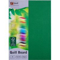 Quill Board 210GSM A4 Emerald Pack 50