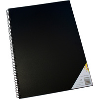 Quill Visual Art Diary 110GSM A3 Black 120 Pages