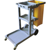 CLEANLINK JANITORS TROLLEY 3 Tier 113.5 x 51 x 98cm Grey