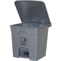 CLEANLINK RUBBISH BIN With Bullet Lid With Pedal 45Litres Grey