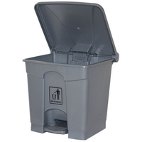 CLEANLINK RUBBISH BIN With Bullet Lid With Pedal 68 Litres Grey