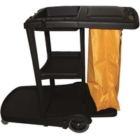 CLEANLINK JANITORS CART 3-Tier With Lid