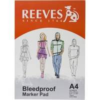 REEVES BLEEDPROOF PAD A4 75GSM 50 Sheets