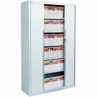 TAMBOUR CABINET PACKAGE 6 LVL H1980xW1200xD500mm + Stock Colour Oyster Grey