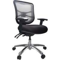 BURO METRO MESH CHAIR WITH ARMS BLACK