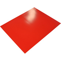 RAINBOW POSTER BOARD 400GSM 510mm x 640mm Red 10 Sheets Pack