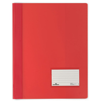 DURABLE FLAT FILE A4 Extra Wide Premium Red Translucent