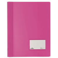 DURABLE FLAT FILE A4 Extra Wide Premium Pink Translucent