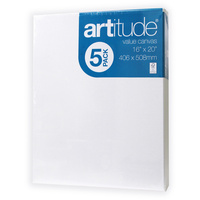 ARTITUDE CANVAS 16 x 20 Inch Thin Edge Pack of 5