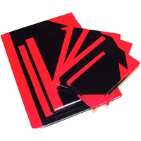 CUMBERLAND NOTEBOOK A5 100 Leaf Red And Black Gloss Cover
