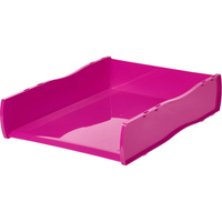 ESSELTE NOUVEAU DOCUMENT TRAY Pink