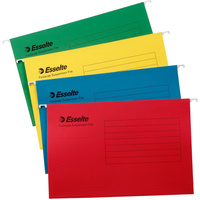 ESSELTE SUSPENSION FILES Yellow, Foolscap, Tabs Incl. Box of 50