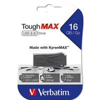 VERBATIM TOUGHMAX USB 2.0 DRIVE 16GB