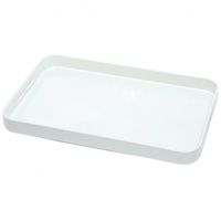 CONNOISSEUR MELAMINE TRAY Large with Handles White