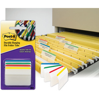 POST-IT DURABLE TABS 686A-1 50mm x 38mm Assorted Pack of 24