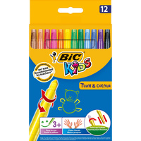 BIC KIDS TWIST CRAYONS Turn & Colour Wallet of 12