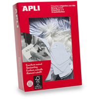 APLI 390 STRUNG TICKETS 390 22mm x 35mm White Box of 500