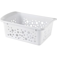 HENLEDAR STORAGE BASKET Large - White 15.3 Litre