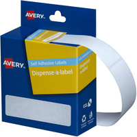 AVERY DMR1964W DISPENSER LABEL Rectangle 19x64mm White Pack of 280