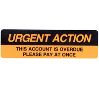 AVERY DMR1964R2 DISPENSER LBL Printed Urgent Action Orange Pack of 125