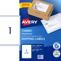 AVERY L7167 MAILING LABELS Laser 1/Sht 199.6x289.1mm Pack of 20