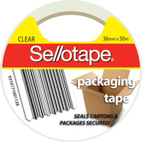 Sellotape Hot-Melt Adhesive Packaging Tape 36mmx50m Clear