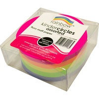 KINDER CIRCLES 85GSM 120mm Fluro Assorted 500 Sheets Pack