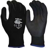 MAXISAFE SYNTHETIC COAT GLOVES Black Knight Sub Zero Glove Insulated, Medium