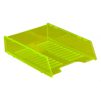 ITALPLAST DOCUMENT TRAY A4 Multi Fit Neon Yellow