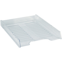 ITALPLAST DOCUMENT TRAY A4 Compact Multi Fit Tint Clear