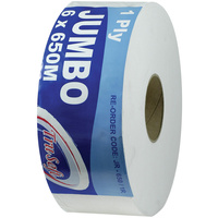 TRUSOFT JUMBO TOILET ROLLS 1ply Carton of 6