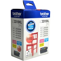 BROTHER INK CARTRIDGE LC-3319XL3PK Value Pack Colour