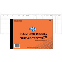 ZIONS RIFA REGISTER Of Injuries And First Aid Treatment Book