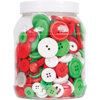 ZART BUTTONS BRIGHT CHRISTMAS Colours Pack of 600g